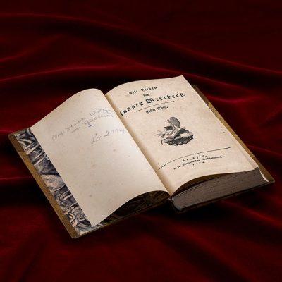 Goethe Buch aufgeschlagen