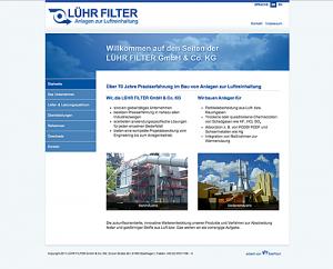 Neuer Internet Auftritt für die Firma LÜHR FILTER - realisiert vom EUROMEDIAHOUSE