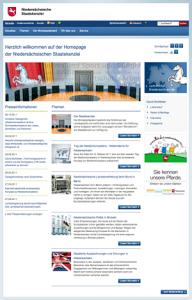 EUROMEDIAHOUSE realisiert Redesign von www.niedersachsen.de und entwickelt damit das Design für ca. 280 weitere Seiten der niedersächsischen Behörden.